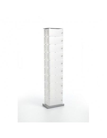 Scarpiera slim salvaspazio modello FLUIDA CL 741 big 10 cassetti di Emporium