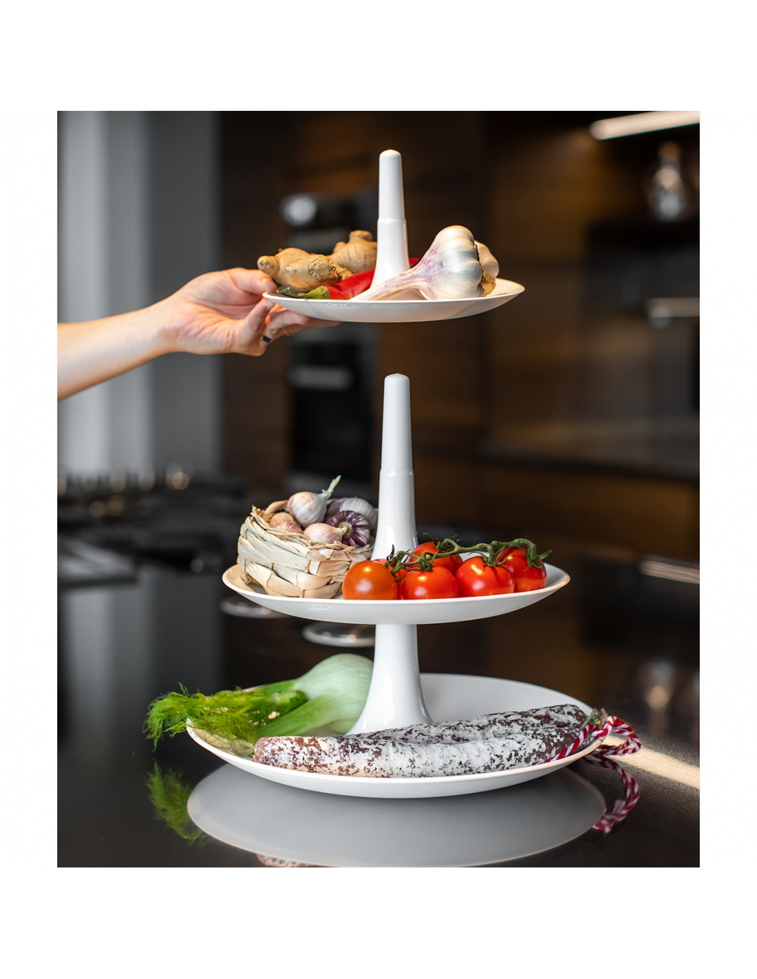 Portafrutta/ Alzatina modello BABELL L di KOZIOL