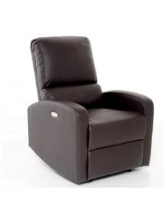 Poltrona recliner relax in similpelle modello Donatella