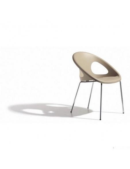 Sedie modello DROP 2682 4 gambe cromate di Scab Design
