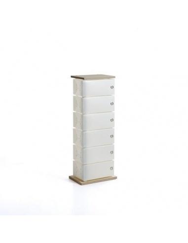 Scarpiera modello FLUIDA WOOD CL 831 small 6 cassetti di Emporium - Slim Salvaspazio