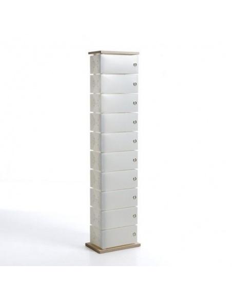 Scarpiera modello FLUIDA wood CL 832 10 cassetti big Base in Legno naturale di Emporium - Salvaspazio Slim
