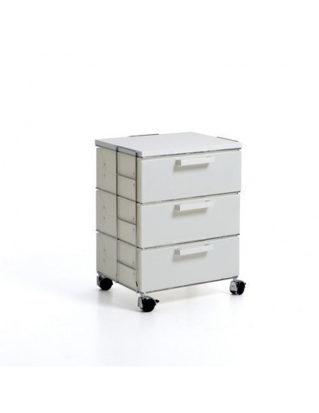 Cassettiera modello ISOTTA WHITE CL 853 small bianco 3 cassetti di Emporium