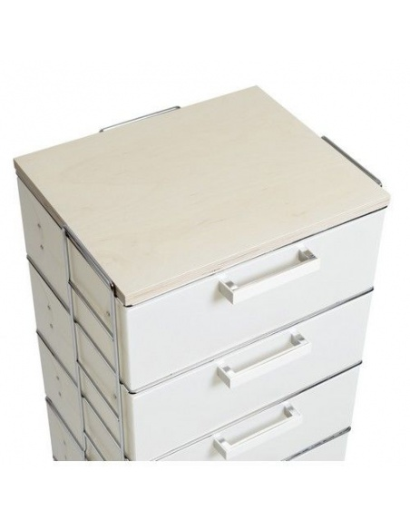 Cassettiera modello ISOTTA WOOD CL 834 big top in legno 6 cassetti di Emporium