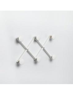 Appendiabiti da parete modello XDUE WOOD CL 837 in bianco di Emporium