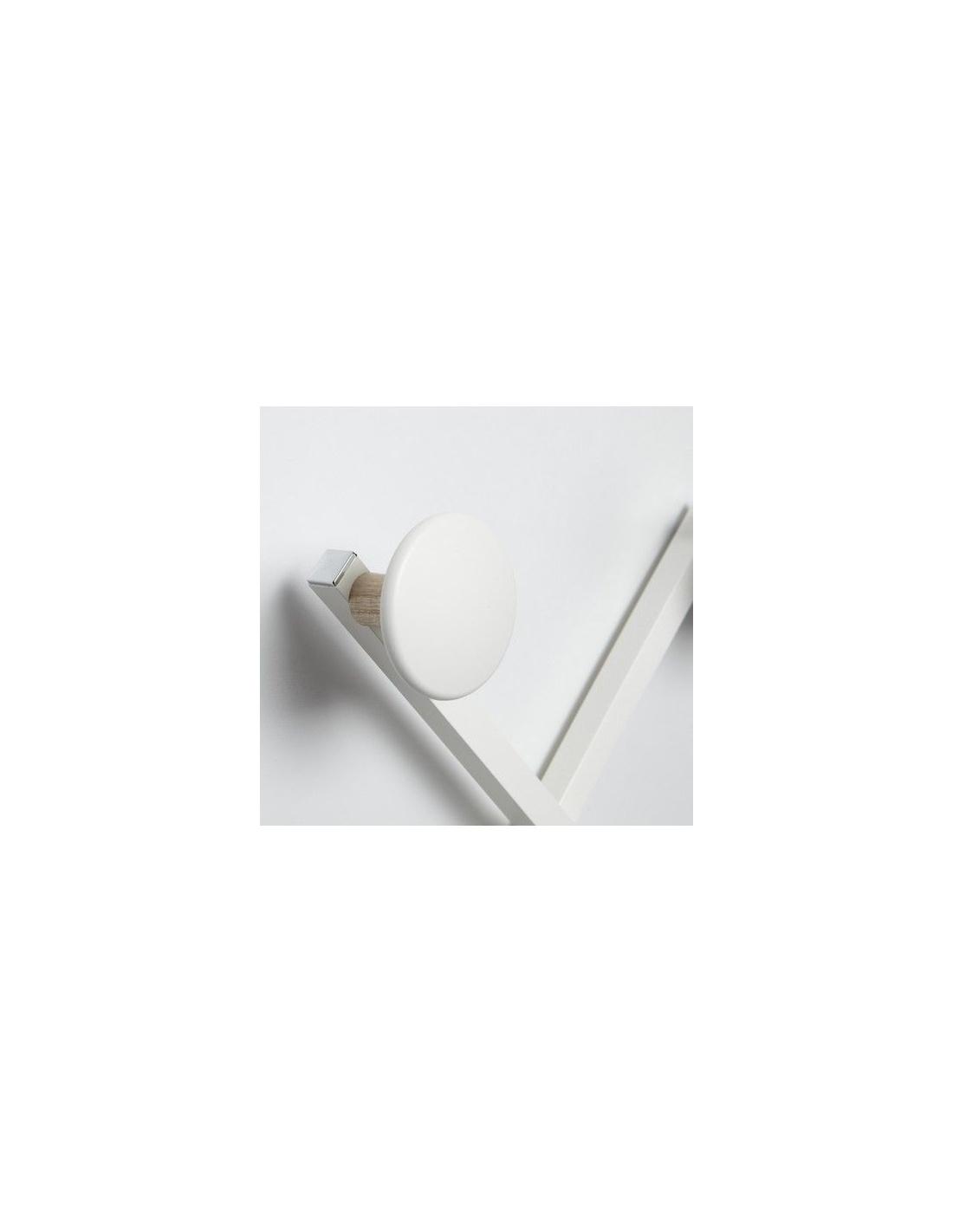 Appendiabiti da parete modello xdue wood cl 837 in bianco for Appendiabiti parete