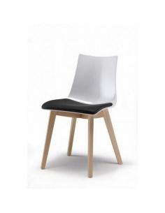 Sedie NATURAL ZEBRA 2806 Con cuscino - Scab Design - minimo 2 pezzi