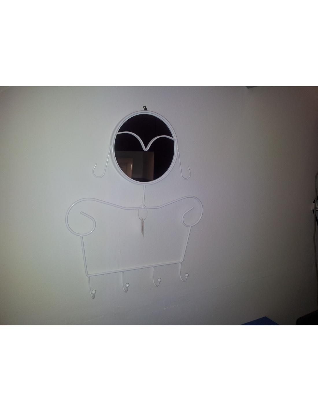 Appendiabiti con specchio da parete modello lady di maiuguali - Appendiabiti da parete con specchio ...