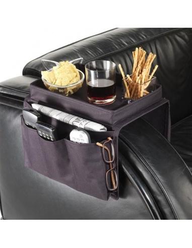 Vassoio per divano con porta telecomando da bracciolo di maiuguali - Porta telecomandi da divano ...