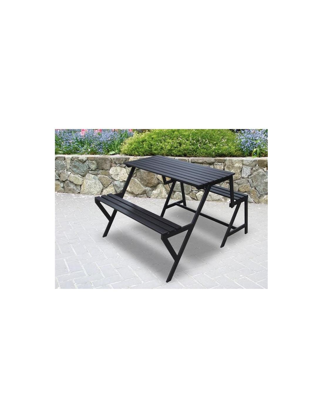 Pachina STEP trasformabile in due panche e un tavolo da pranzo