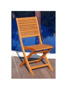 Sedie pieghevole in legno mod.California da giardino/esterno