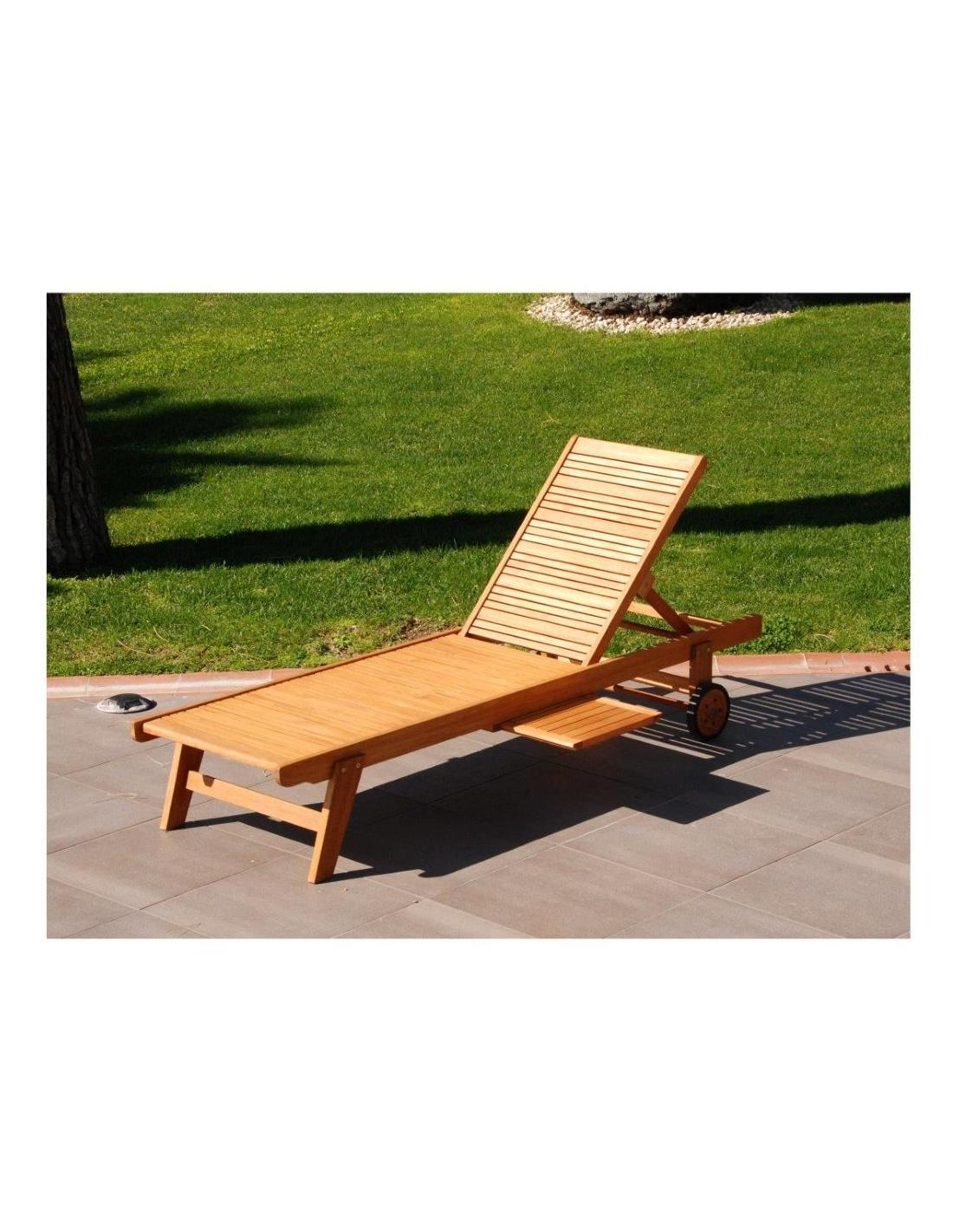 Lettino sdraio in legno da esterno giardino reclinabile for Sdraio esterno