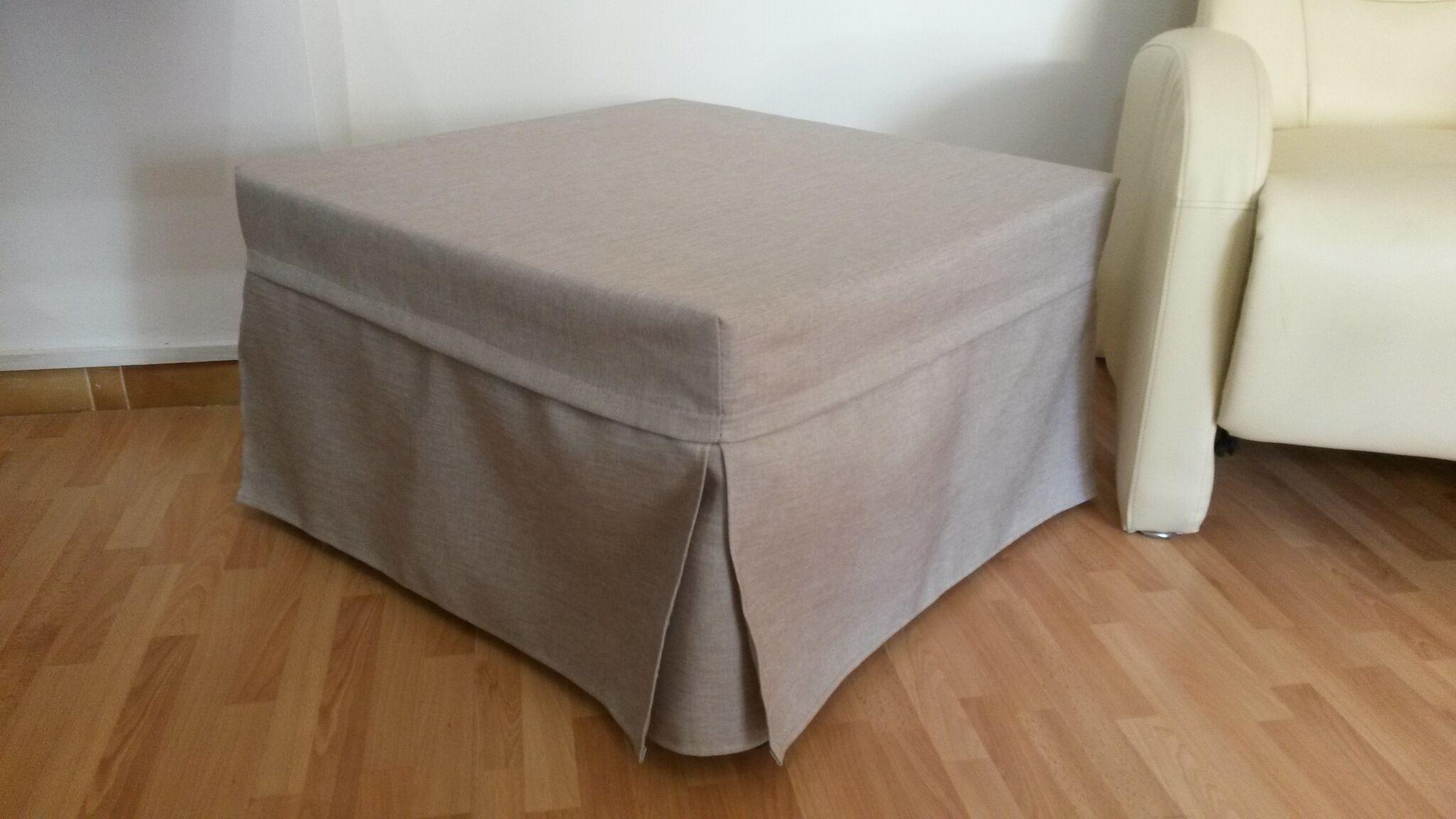 Pouff letto in tessuto facilmente lavabile made in italy for Piani letto log gratuiti
