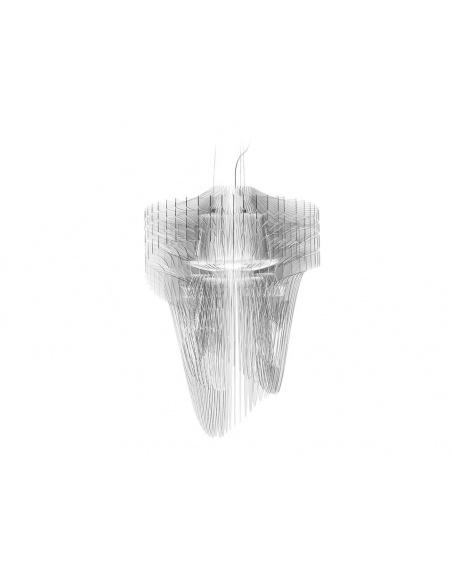 Lampadario a sospensione modello large ARIA TRANSPARENT di Slamp