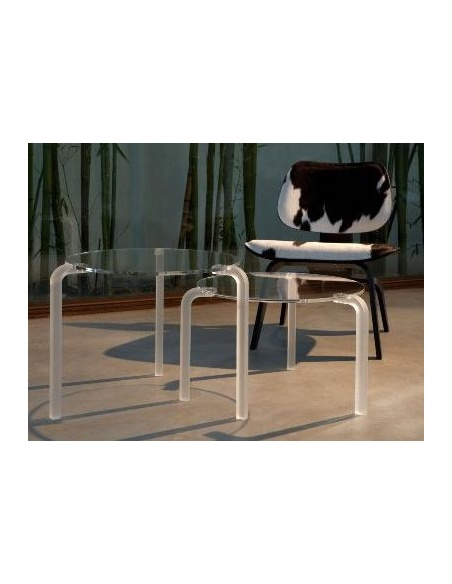 Tavolino modello FINNY 1 CL 211 tondo basso di Emporium