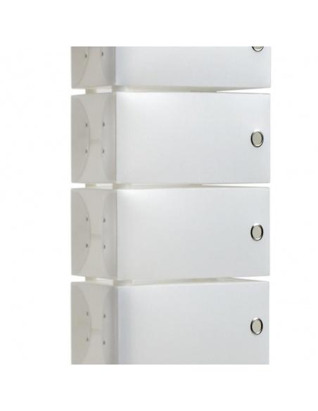 Scarpiera modello FLUIDA WHITE CL 851 small bianco 6 cassetti di Emporium - Slim Salvaspazio