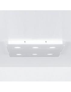 Plafoniera quadrata 6 luci modello DOMINO CL 696 di Emporium
