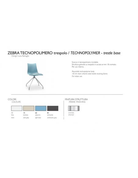 Sedia ZEBRA TECNOPOLIMERO 2617 trespolo - Scab Design