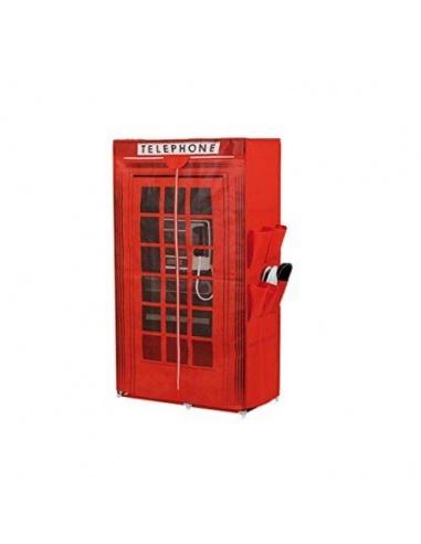 Armadio contenitore maiuguali cabina telefonica colore for Armadio in stoffa