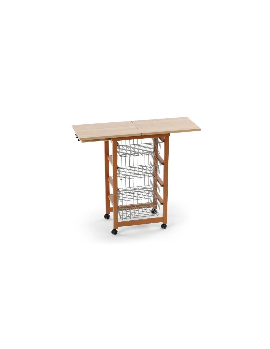 Carrello da cucina in legno mod gastoncino 518 di for Arredamenti legno