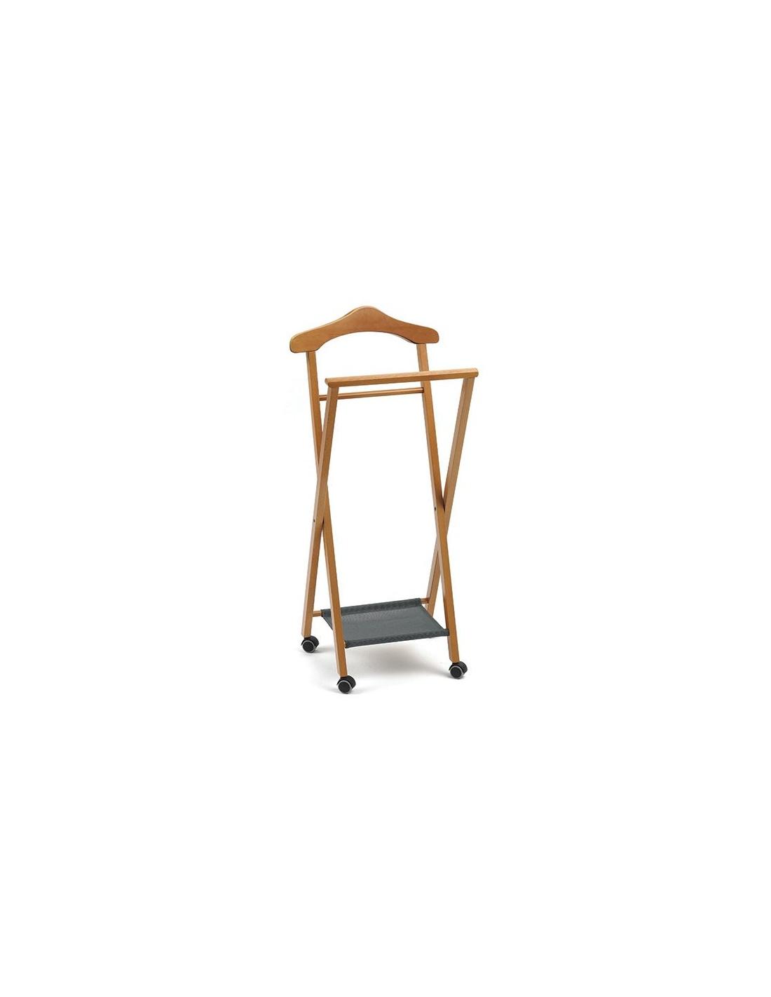 Indossatore in legno da camera mod nelson 119 di arredamenti italia - Portabiti da camera ...