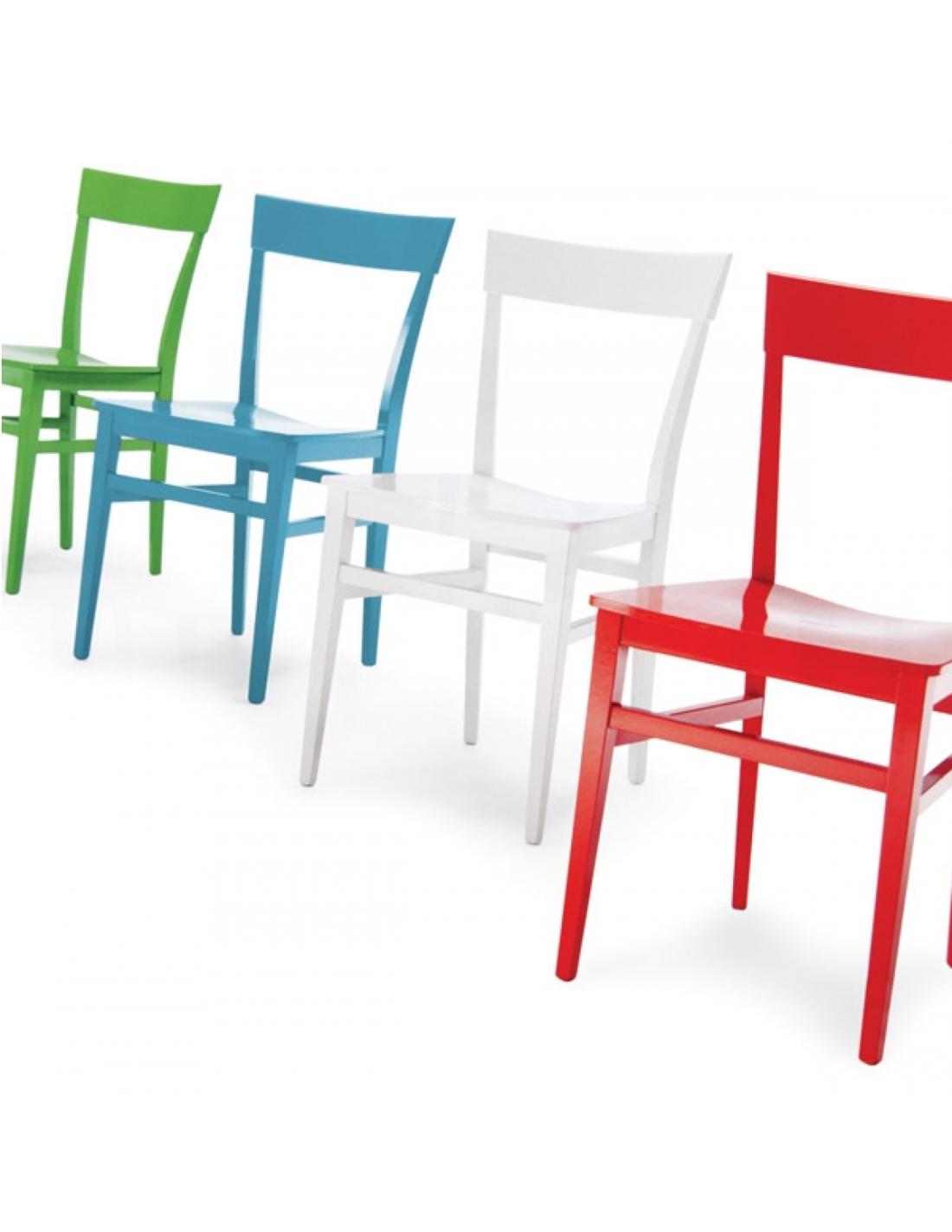 Sedia moderna in legno di faggio modello OLGA