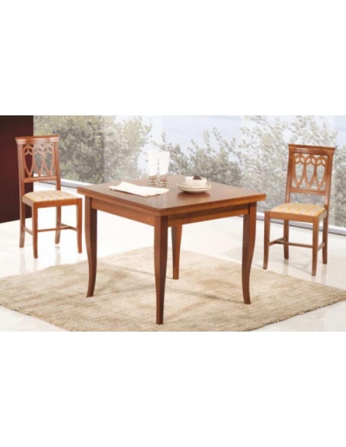 Tavolo legno allungabile art. 1141 90x90 cm