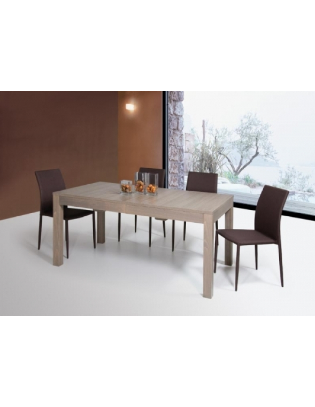 Tavolo rettangolare allungabile 160x90 cm art 1145 for Tavolo rettangolare allungabile
