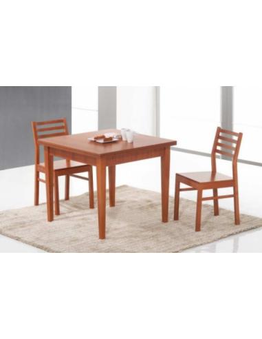 Tavolo in legno a libro art 2204 90x90 cm