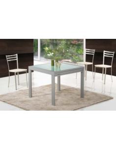 Tavolo in metallo quadrato art. 2552 90x90 cm raddoppiabile