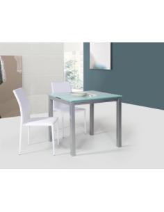 Tavolo in metallo quadrato art. 2209 80x80 cm