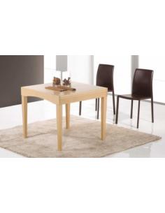 Tavolo in legno di faggio quadrato art. 2211 80x80 cm