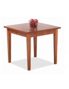 Tavolo in legno fisso quadrato art. 2218