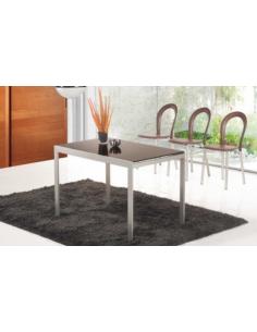 Tavolo in metallo raddoppiabile art. 2224 110x70 cm