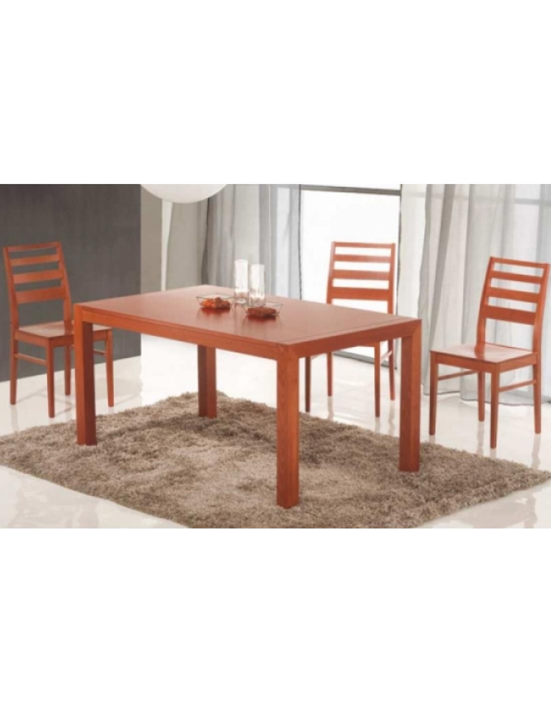 Tavolo in legno di faggio allungabile rettangolare art 2233 for Tavolo di legno allungabile