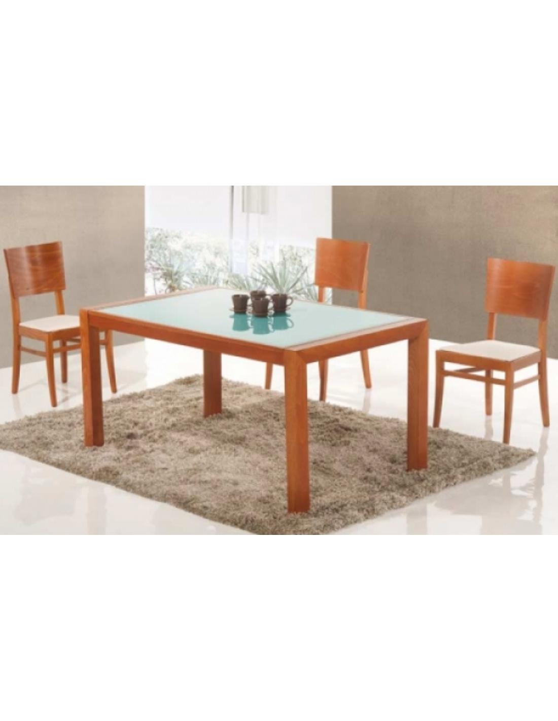 Tavolo in legno di faggio allungabile rettangolare cs 2234 for Tavolo di legno allungabile
