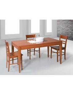 Tavolo laminato in legno allungabile rettangolare