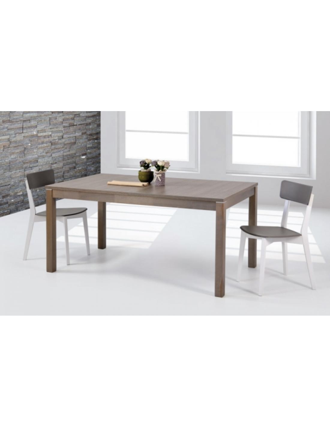 Tavolo in legno massello allungabile rettangolare art 2292 - Tavolo quadrato allungabile legno massello ...