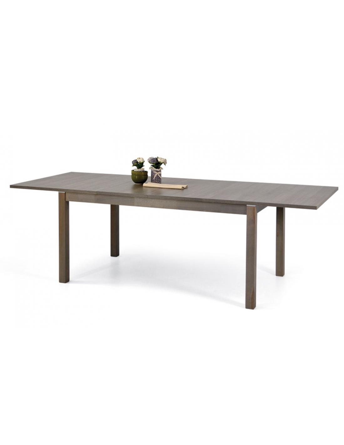 Tavolo in legno massello allungabile rettangolare art 2292 for Tavolo legno massello allungabile