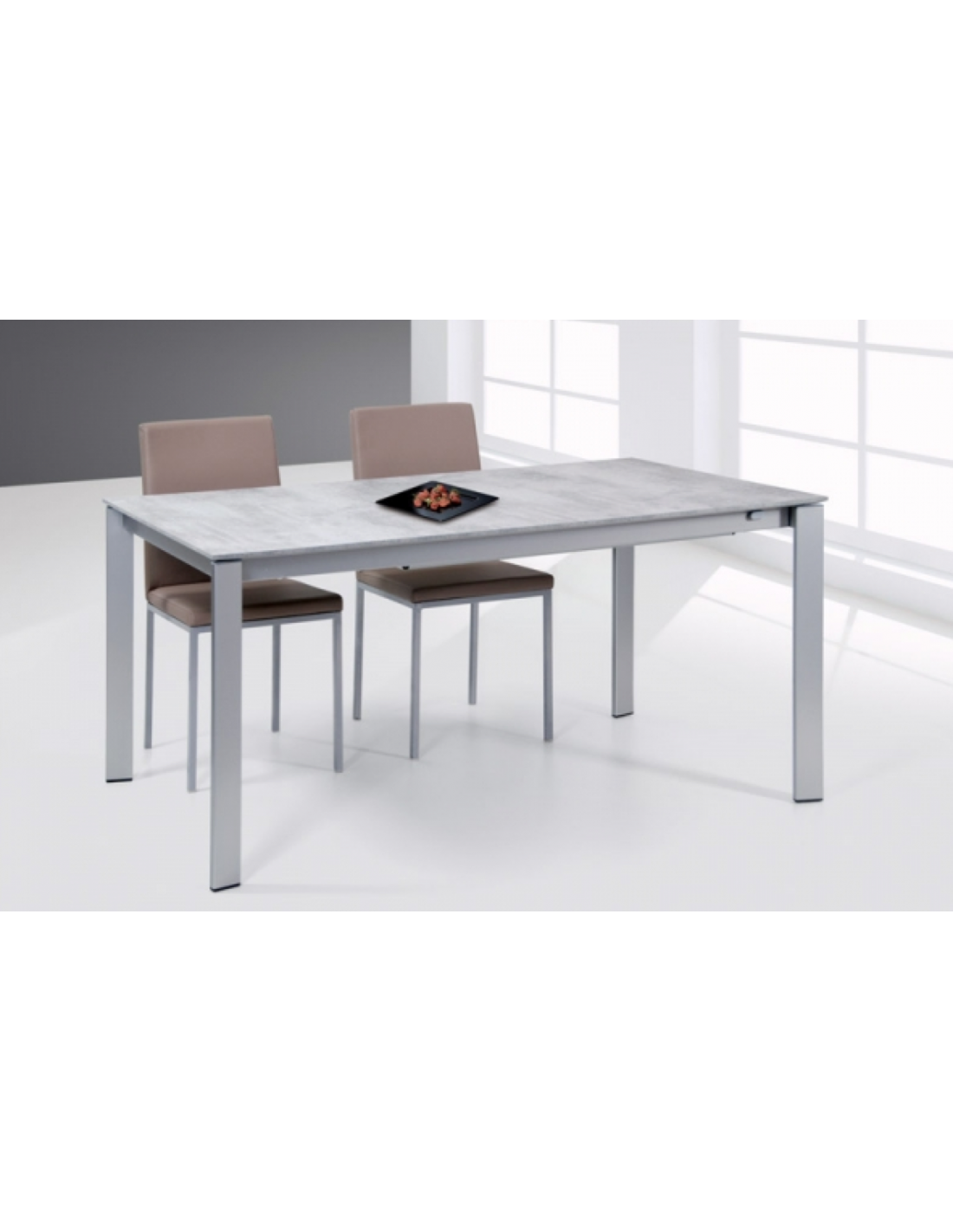 Tavolo in metallo allungabile rettangolare art 2295 for Tavolo rettangolare allungabile