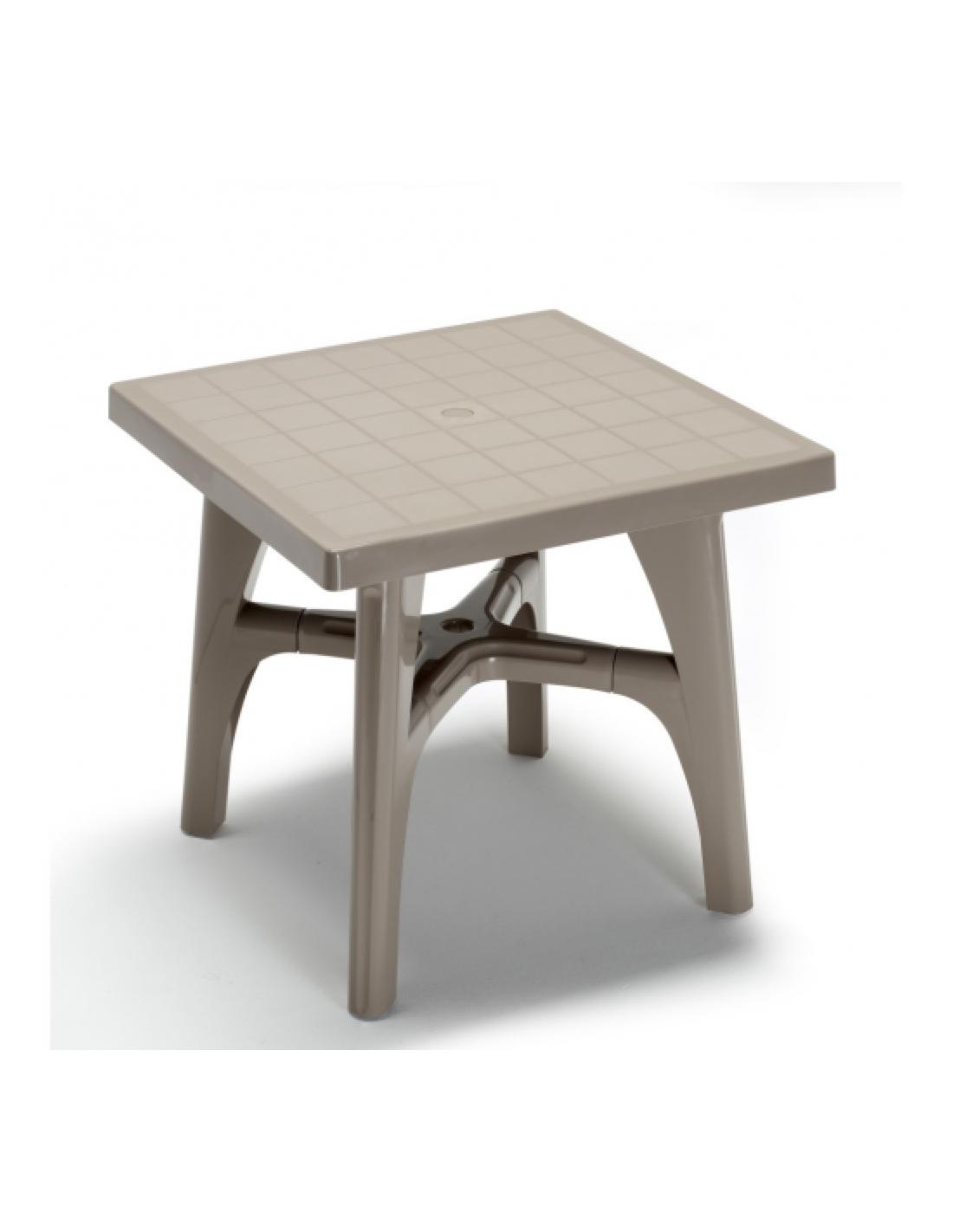 Tavolo da esterno per giardino resina quadromax contract - Resina da esterno ...