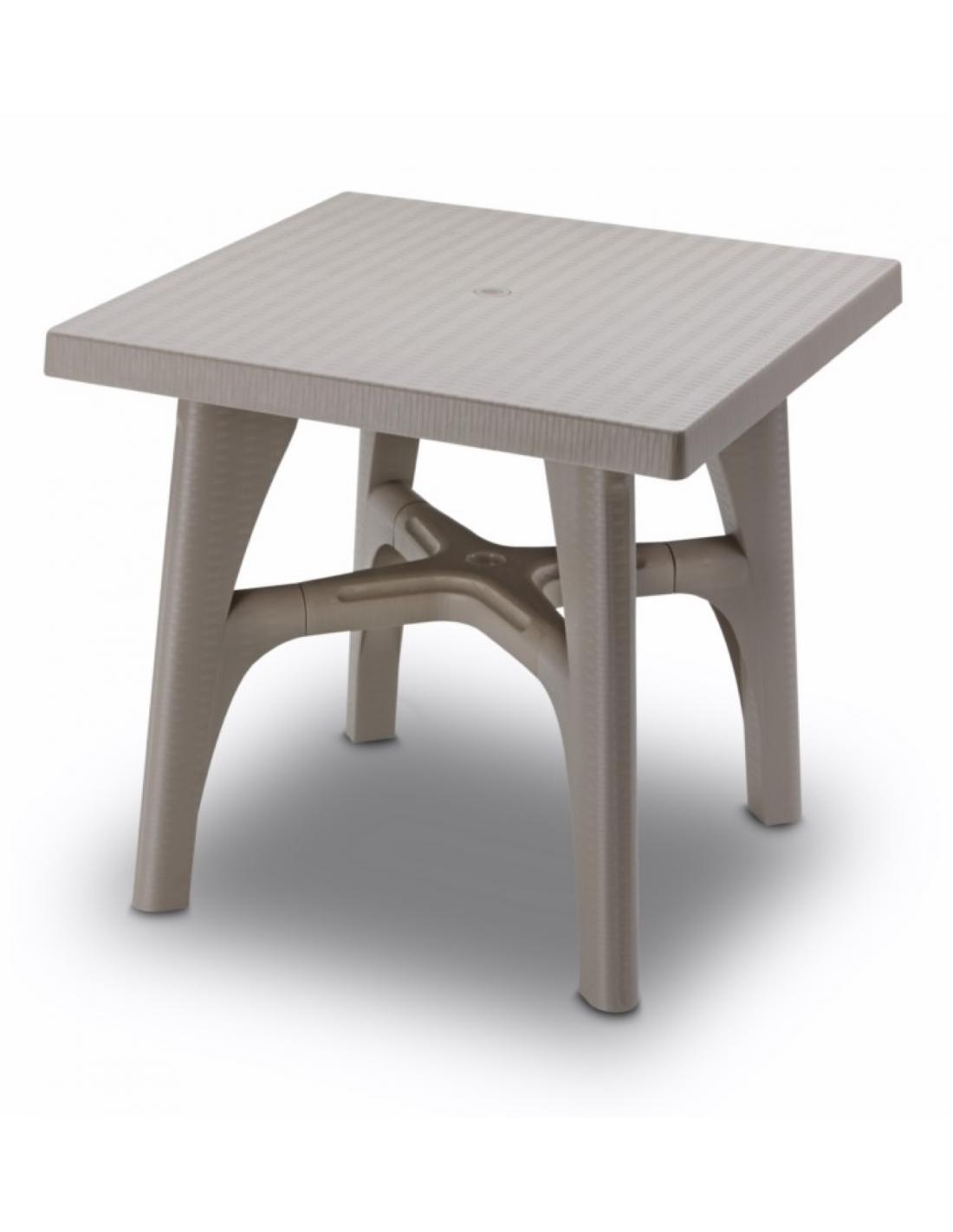 Tavolo esterno per giardino smontabile intrecciato 80x80cm for Arredo x esterno