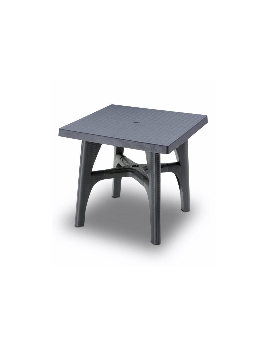 Tavolo esterno per giardino smontabile intrecciato 80x80cm - Tavolo plastica esterno ...