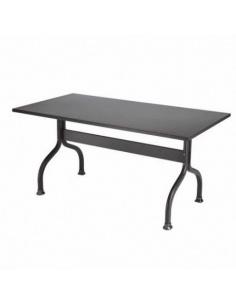 Tavolino da esterno per giardino modello ACHILLE 160 x 85 cm di Scab Design colore antracite