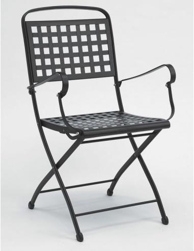 Sedie Reclinabili Da Esterno.Sedia Da Esterno Per Giardino Isabella Con Braccioli 2511 Scab Design