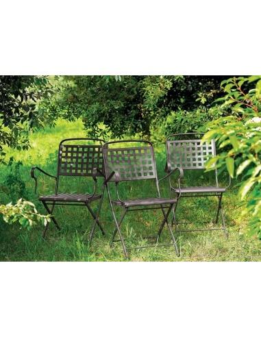 Sedie Da Esterno Design.Sedia Da Esterno Per Giardino Isabella Con Braccioli 2511 Scab Design