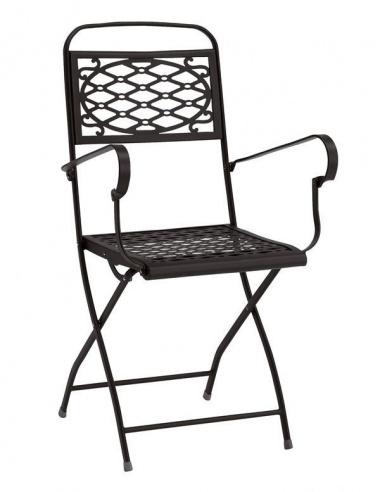 Sedie Da Esterno Con Braccioli.Sedia Da Esterno Per Giadino Isa Con Braccioli 2531 Scab Design