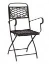 Sedia da esterno ISA con braccioli 2531 - Scab Design