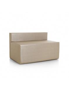 Divanetto con seduta doppia modello ELLE art.0302 di SPOUF