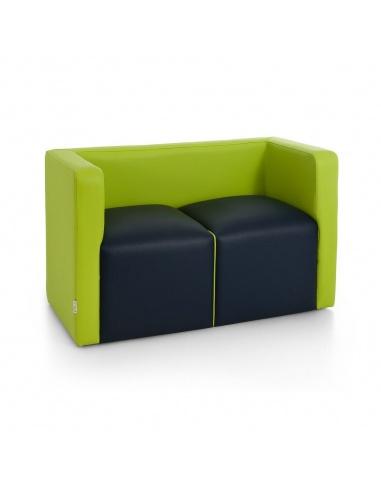 Divano da sala dattesa a doppia seduta modello SOLO art.0902 di SPOUF